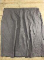 Women's Skirt Size 24W Brown Pencil Straight Knee Length Dressy Herringbone