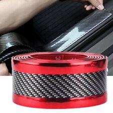 Auto 3D Carbon Fiber Trunk Protection Strip Sill Rear Bumper Strip Plate Sticker