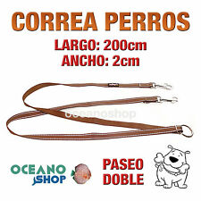CORREA PERRO TIRADOR MULTIPOSICION NYLON 200x2cm PASEO DOBLE L89 3397