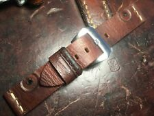 Handmade 22mm Swiss leather Ammo Pouch watch strap.