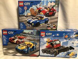 Lego City Racing Cars 60256 Police Highway Arrest 60242 Snow Groomer 60222 Lot 3