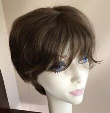 NWT! JACQUELYN Wig HUMAN HAIR Blend LUCKY 10-7 Brown Monotop