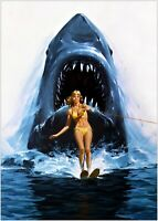 JAWS Classic Movie Large Poster Art Print Maxi A1 A2 A3 A4