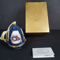 2008 Mr Christmas Musical Egg Ornament Church Away in a Manger Valerie Parr Hill