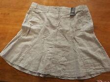 "New Ex-M&S Ladies Grey 100% Linen A Line Skirt Sz 20 Lgth 22"" (£22)"