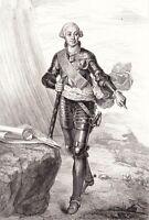 Portrait XIXe Louis Nicolas Victor de Félix d'Ollières Comte Du Muy Maréchal
