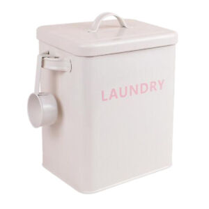 Storage Box Household Organizer Bin Container with Lid Handles LAUNDRY-White