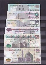 EGYPT 5 10 20 50 100 200 EGP 2013 2015 P 63 64 65 66 67 69 SIG/RAMEZ #22 UNC SET