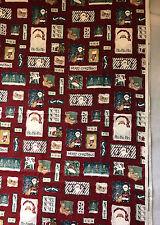 DAISY KINGDOM Country Santa Patch 42 x 21 red FABRIC Christmas Noel teddy bear F