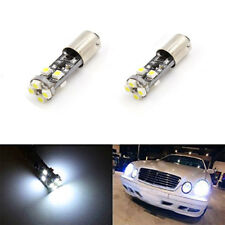 2x White BA9S h6w 6000K No Error LED Parking Light Bulbs Aluminum Durable