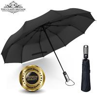 Premium Regenschirm Taschenschirm mit Auf-Zu-Automatik - The Classy Britain®