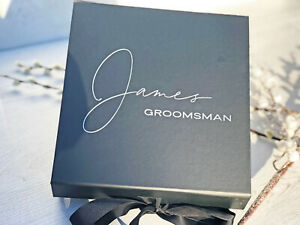 Personalised Wedding Gift Box - Groom Party Gift - Personlised Gift Box  -Script