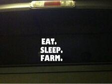 "Eat Sleep Farm vinyl window sticker car decal 6"" *B19 farmer agriculture farming"