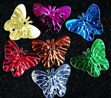 200 X Mixed Batterfly Paillette Sequin Plastic Beads / Links 22 X17 Mm