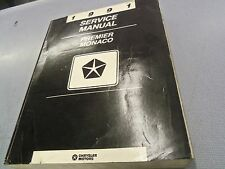 1991 Chrysler Dodge Premier Monaco Dealer Service Manual L@@K FREE Shipping!!