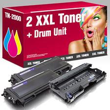 2 Toner+Trommel kompatibel mit Brother HL2030 MFC7420 FAX2820 DCP7010 TN-2000 DR