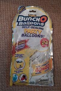 Zuru Bunch O Balloons Self Sealing Party Balloons 24 pack white