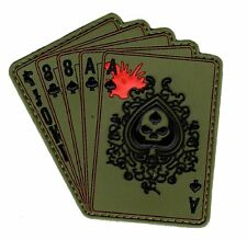 Dead Man's Hand Aces Full of 8's Spade 3D PVC Rubber Hook PVC Patch (PV6)