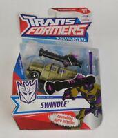 Hasbro TRANSFORMERS ANIMATED DELUXE SWINDLE Action Figure - OPENED BOX
