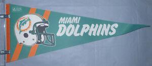 "Miami Dolphins NFL Vintage Circa 1980's Team Helmet Logo Football 29"" Pennant"