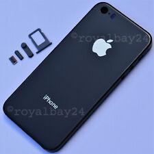 iPhone 5s → 8-look Aluminium Mittel-Rahmen + Glas Space-Grau Gehäuse Schwarz WoW