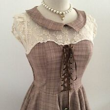 LIZ LISA Dress glen check Kawaii Japanese Gyaru Lolita Fashion #13487