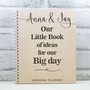 Personalised Wedding Planner Wooden Wedding Book Gift Engagement Wedding Ideas