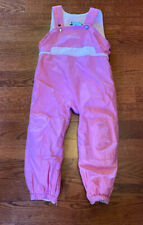 Columbia Girl's Toddler Size 4T Winter Wear Pink Ski Snow Pants Bibs