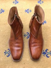 Oliver Sweeney Men's Tan Brown Leather Chelsea Dealer Boots UK 7 US 8 EU 41