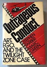 OUTRAGEOUS CONDUCT 1st EDITION 1988 HARDCOVER TWILIGHT ZONE MOVIE MORROW LANDIS