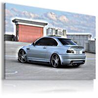 BMW M3 BLUE SILVER Super Sport Cars Wall Canvas Picture ART AU363 MATAGA .