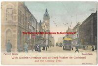 Durham Sunderland Fawcett Street 1904 Vintage Postcard 7.1