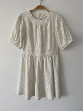& Other Stories Eyelet-Lace Puff Sleeve Baby Doll Dress