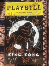 King Kong Cast Signed Playbill
