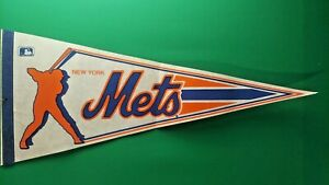 """NY NEW YORK METS VINTAGE Pennant FULL SIZE 30"""""""