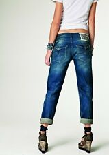 195€ NEW REPLAY 'JULICKS' Boyfit Rolled up leg Jeans Size W-28
