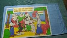Popeye Deserked Island Pillowcase vintage