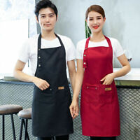 Chef Apron Kitchen Baking Craft Waterproof Pocket Catering Cooking Butcher L