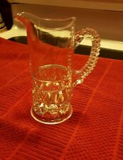 """VINTAGE CLEAR GLASS CREAMER ♡ 5.75"""" Tall"""