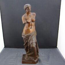 alte Bronzefigur Venus von Milo Gießereistempel R. Bellair & Co Berlin