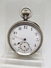 Antique solid silver gents Venta pocket watch 1927 working ref1154