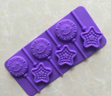 6 x Silicone Sun Star Lollipop Chocolate Mould Ice Cube Jelly Lolly Valentine