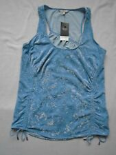 NEW £36 NEXT Baby Blue  silver/white shimmer crushed velvet vest style top UK 18