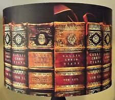 Antique Book lampshade,lamp shade,old books,Library, gold script,red,Free Gift