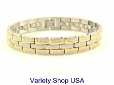Stainless Steel Designer Link Magnetic Therapy Bracelet SS6029
