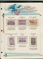 united states commemoratives series 1939/40 stamps page ref 18262