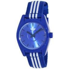 New Adidas Santiago-Mini Blue/White Stripes Nylon Band Women Watch 30mm ADH2790
