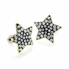 Alloy Crystal Stud Clip - On Costume Earrings