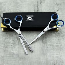 Professional Pair Of Scissors & Thinning Scissor With Presentable Leather Case