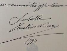 ISABELLE CONTESSE DE PARIS / BLANCHE DE CASTILLE,MON AIEULE / DEDICACE / 1991